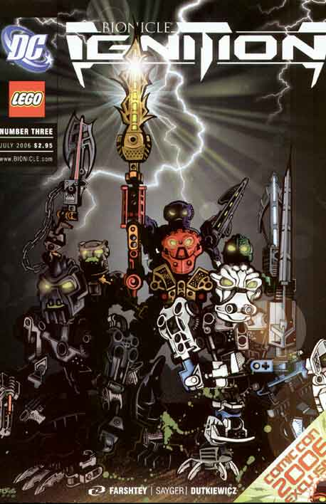 Bionicle Ignition #3 Comicon International exclusive cover
