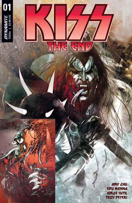 Kiss The End #1B anc C Sayger exclusiver cover