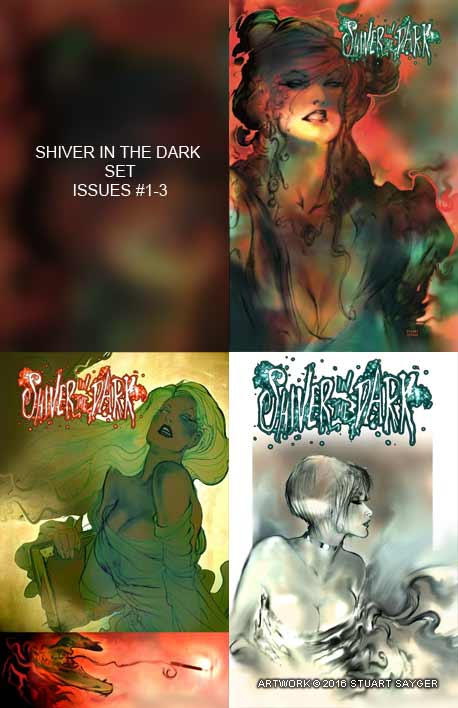 Shiver in the Dark: comic set #1-3